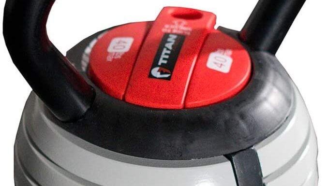 Titan Fitness Adjustable Kettlebell (Interchangeable Weight Lifting Equipment) Review
